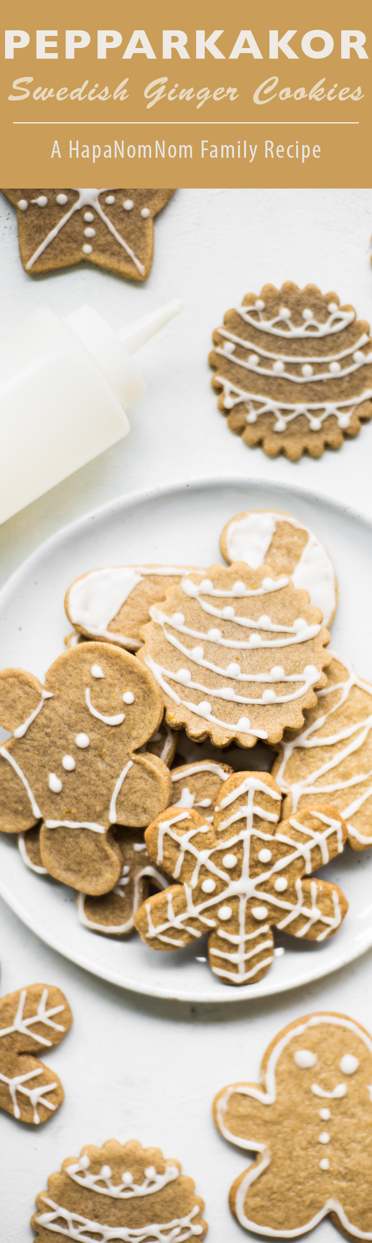 Pepparkakor (Swedish Ginger Cookies) - a family recipe and Christmas cookie favorite! These thin spiced cookies make the holidays extra special.