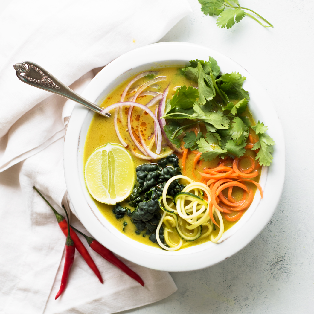 Vegetable Coconut Curry Soup