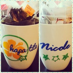 Custom Hapa-tite mug!