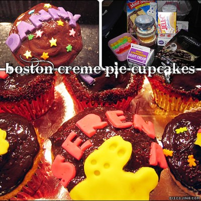Boston Creme Pie Cupcakes