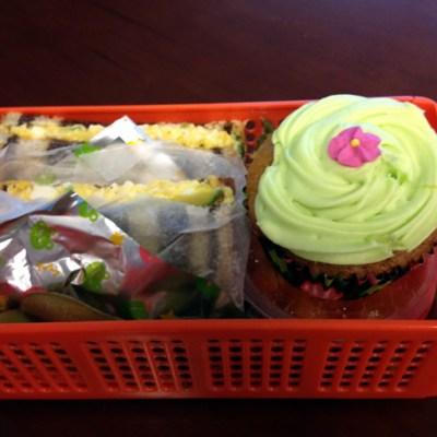 Egg Salad & Carrot Cake Cupcake Bento