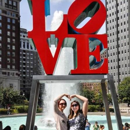 My sister & I in Philadelphia