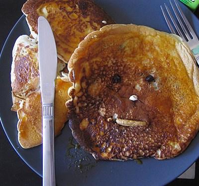 Pumpkin Butter & Raisin Pancakes