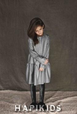 Легко носить формы с бархатными леггинсами от UNLABEL для детской моды осень 2017