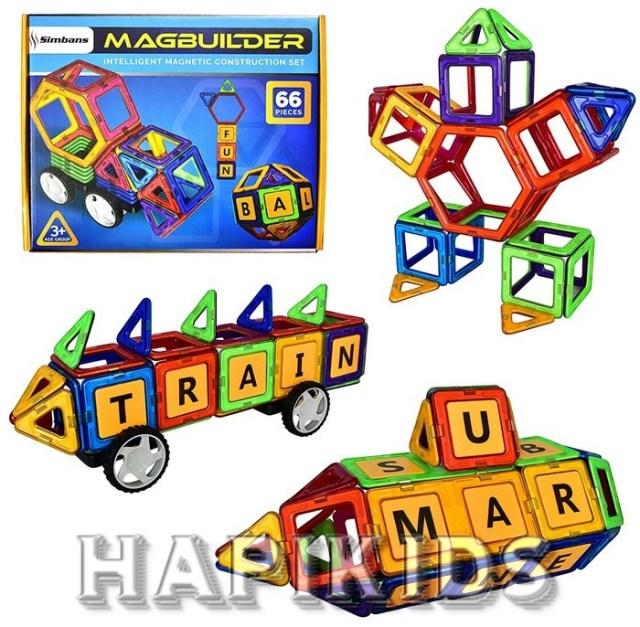 MAGBUILDER 66 Pieces Игрушка из магнитных блоков