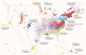 Clustering of 770,000 genomes reveals post-colonial population structure of North America
