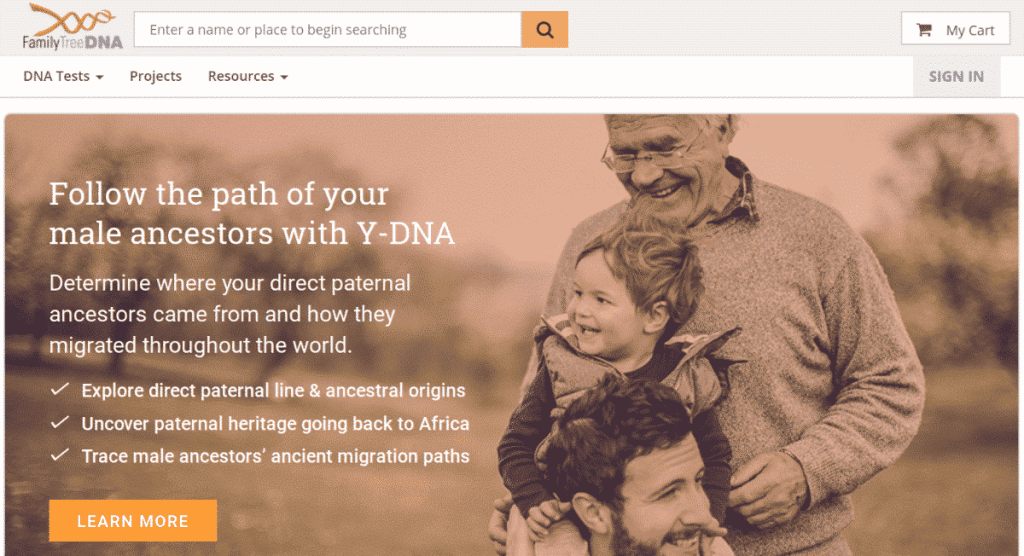 The FTDNA Website
