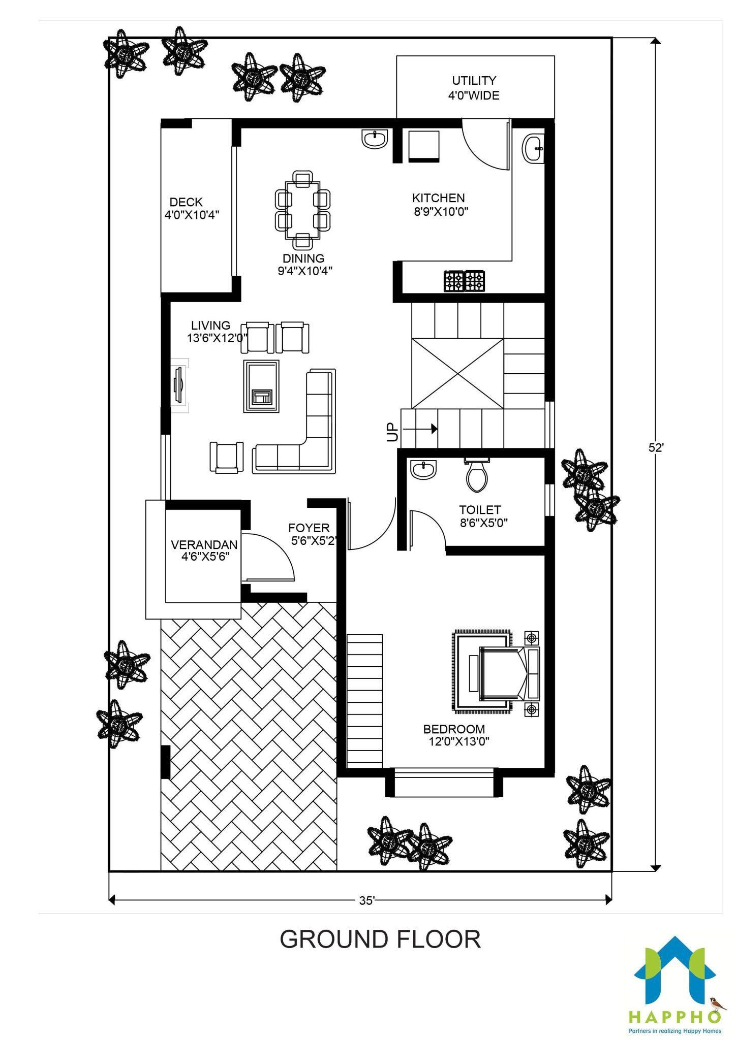 Floor Plan For 30 X 50 Feet Plot