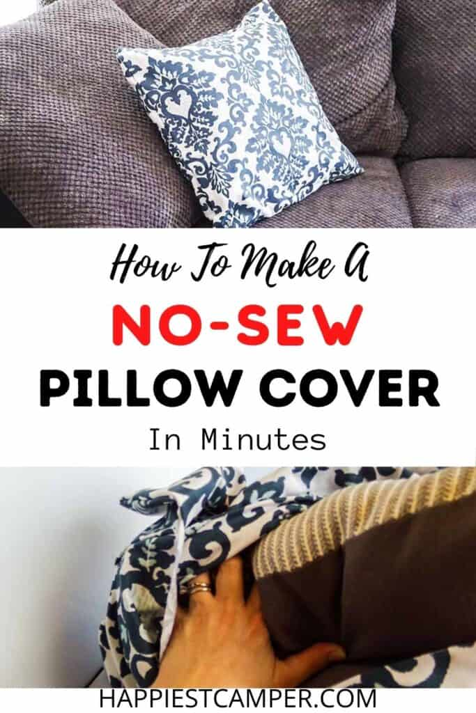 how to make a no sew pillow cover in