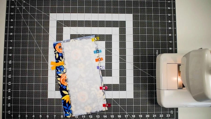 attach back panel to zipper side