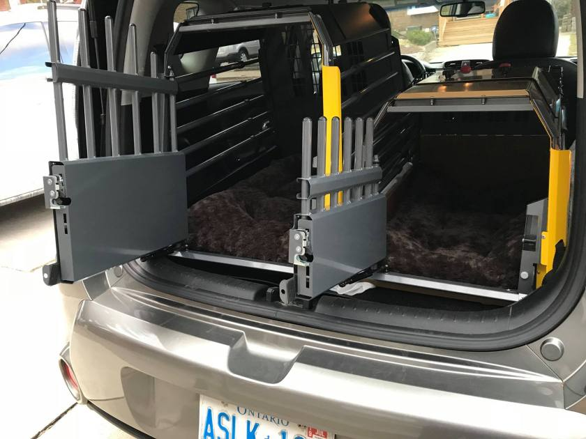 Crash tested dog  crates for road trips with your dog.