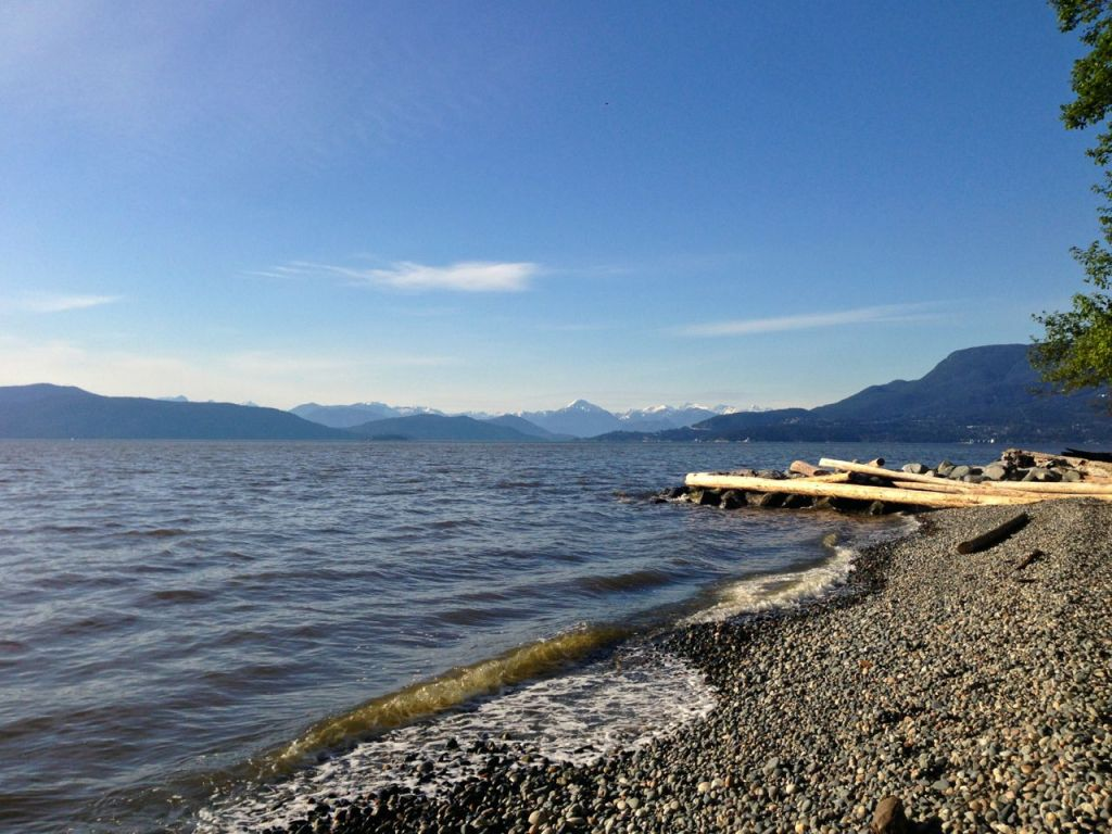 coastal hiking in Vancouver: Point Grey beach