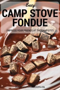 Easy Camp Stove Fondue. Use this simple recipe to impress your friends at the campsite. Camping recipes. Make fondue with camping.