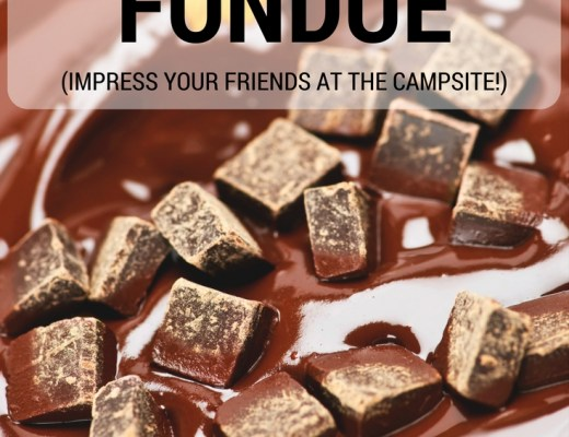 Easy Camp Stove Fondue. Use this simple recipe to impress your friends at the campsite.