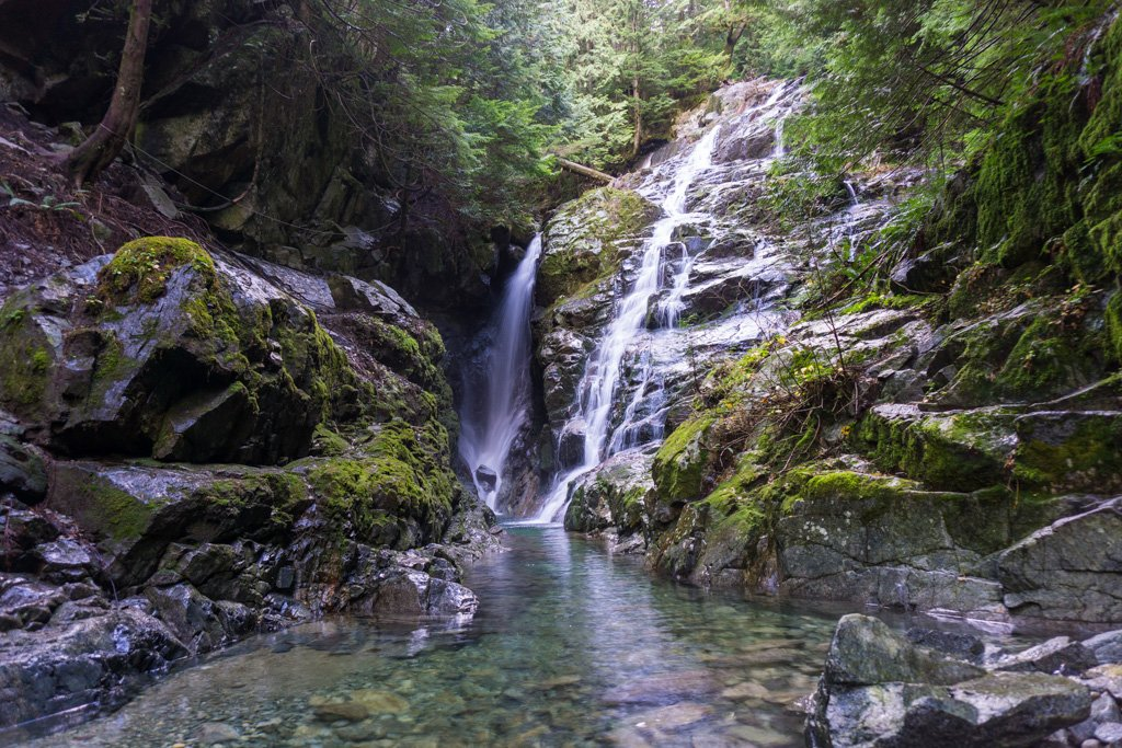 Kennedy Falls in North Vancouver, BC