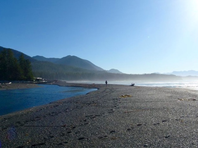 Hiking at Beano Creek on the Nootka Trail