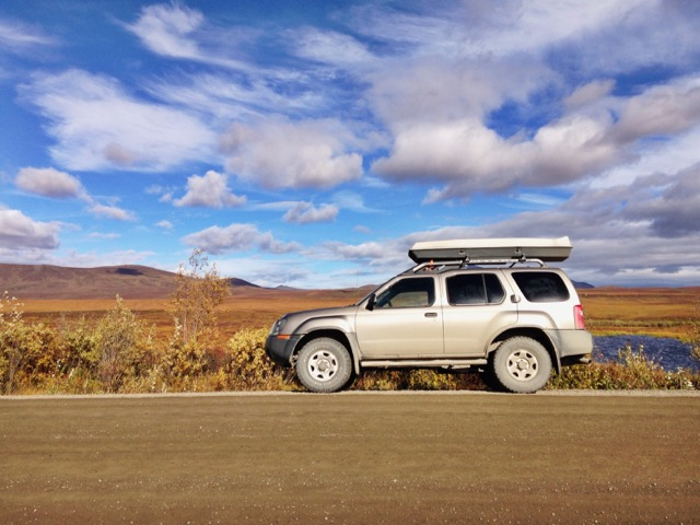 Nissan X-Terra on the Dempster Highway