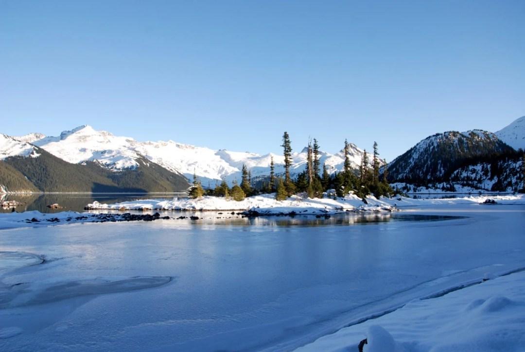 Frozen bay at Garibaldi Lake