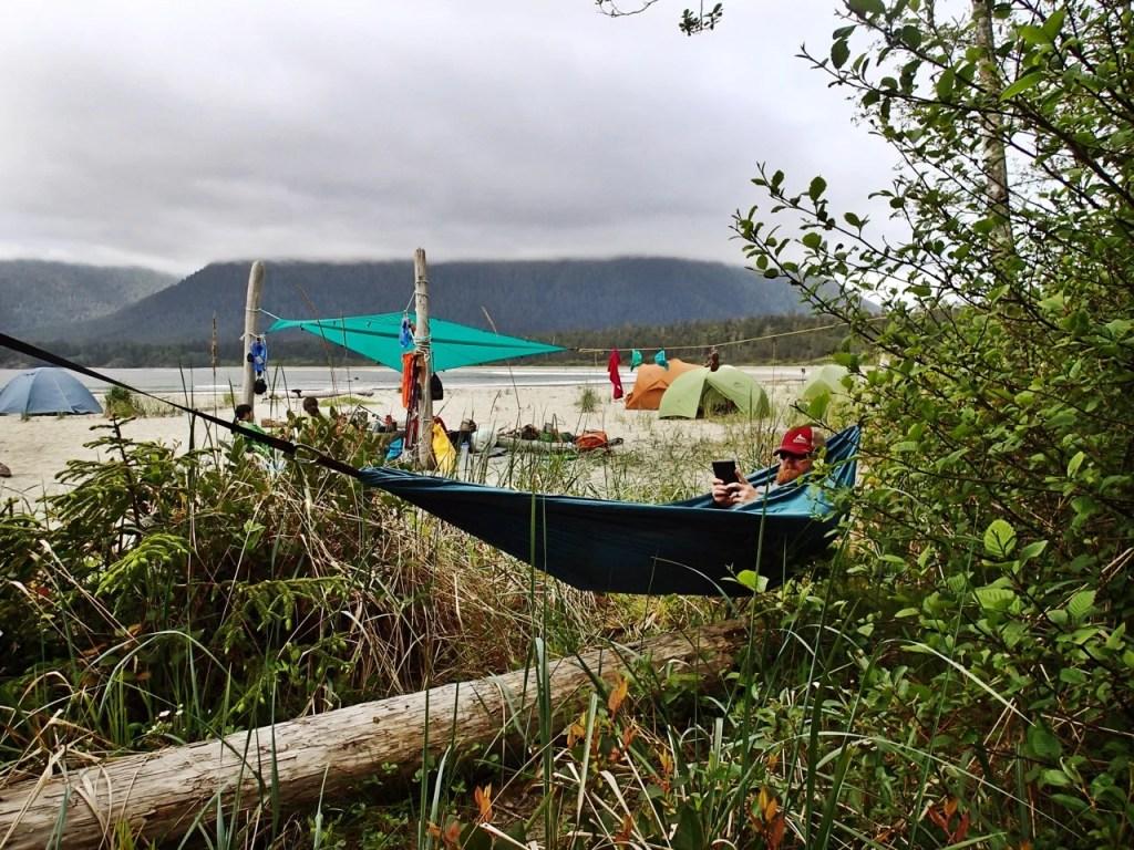 Hammock on Flores Island, BC