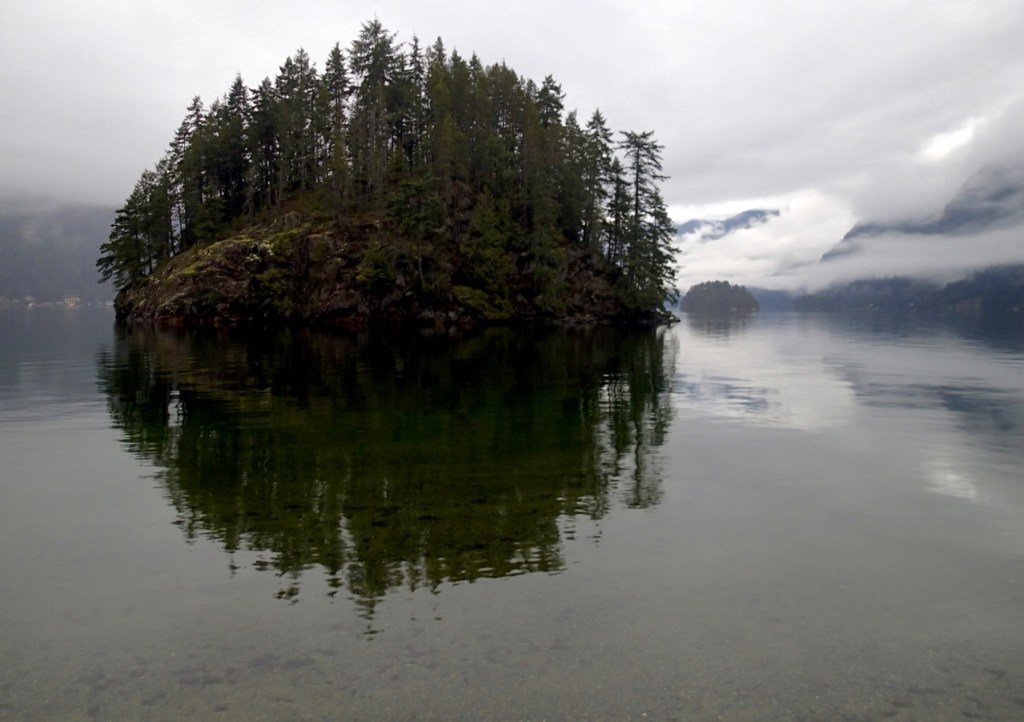 Jug Island in Belcarra Regional Park. You can get to this Vancouver hike on transit