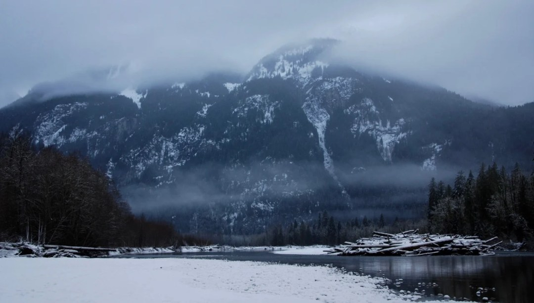 Squamish River in winter