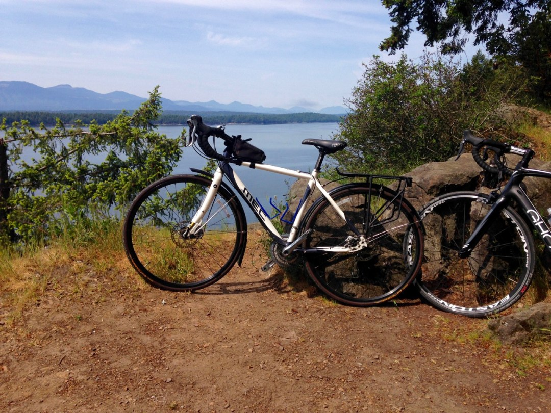 Bikes at Lover's Leap on Galiano Island