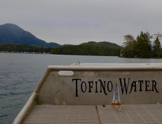 Water taxi to Meares Island