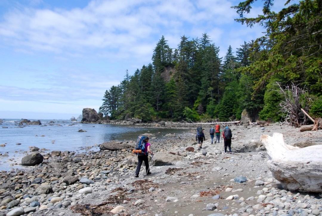 Beach hiking on the Ozette Loop