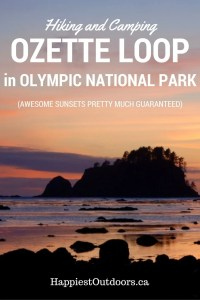 A Complete Guide to Hiking and Camping on the Ozette Loop in Olympic National Park. Beautiful coasting hiking and beach front camping on a remote stretch of the Pacific Coast. Everything you need to know to get there, get a permit, go hiking and find the best place to camp. Awesome sunsets pretty much guaranteed. (There's nothing between you and Japan but the ocean).