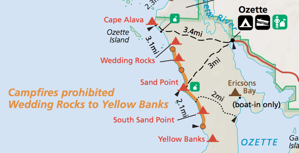 Ozette Loop map