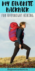 The best backpack for overnight hiking: the Boreas Lost Coast 60. It's great for backpacking and travel. Click here to read my review.