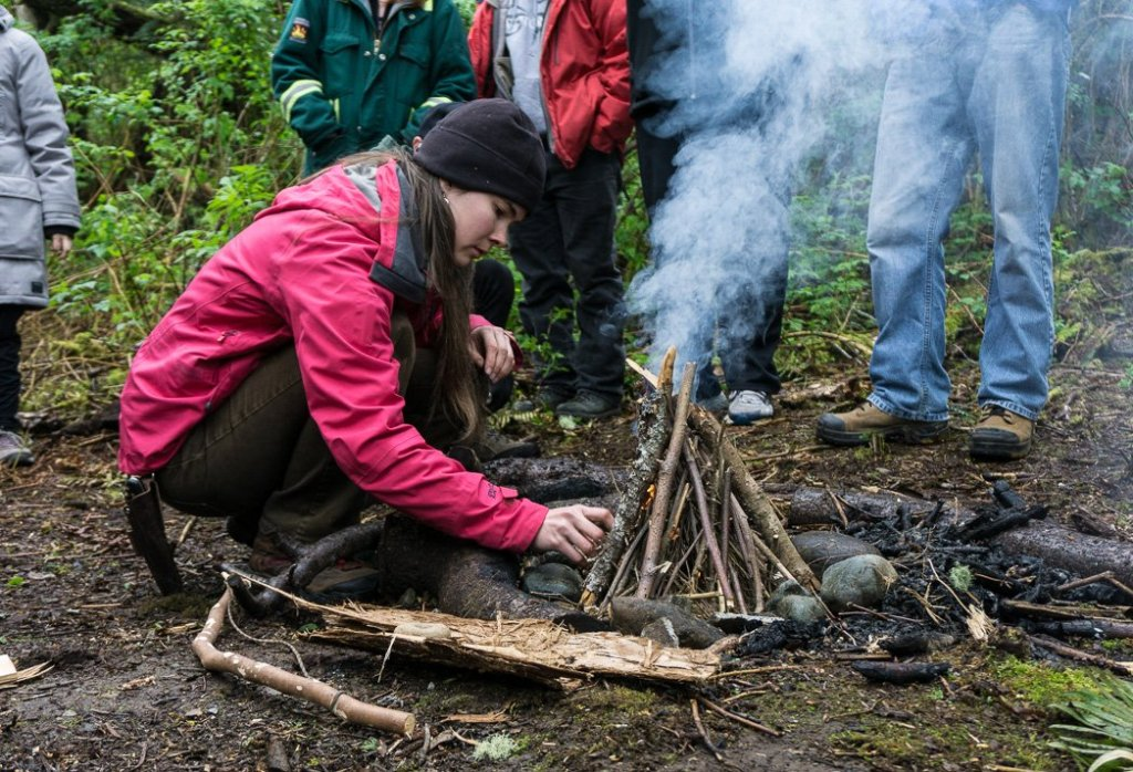 Learning wilderness survival with Carleigh Fairchild