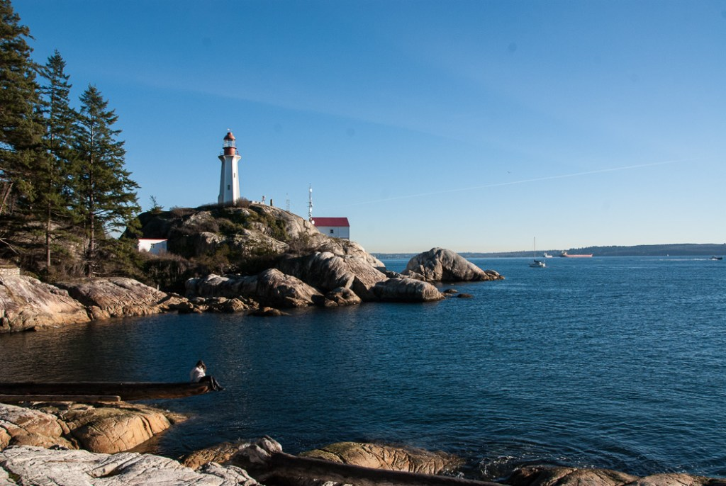 Lighthouse Park, one of over 100 snow-free hikes in Vancouver that you can hike all year long.