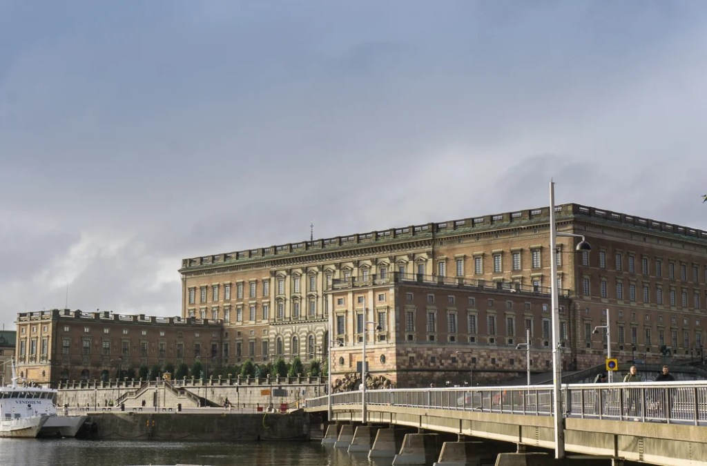 Sweden's Royal Palace in Stockholm. Visit it on the Ultimate Self-Guided Walking Tour of Stockholm.