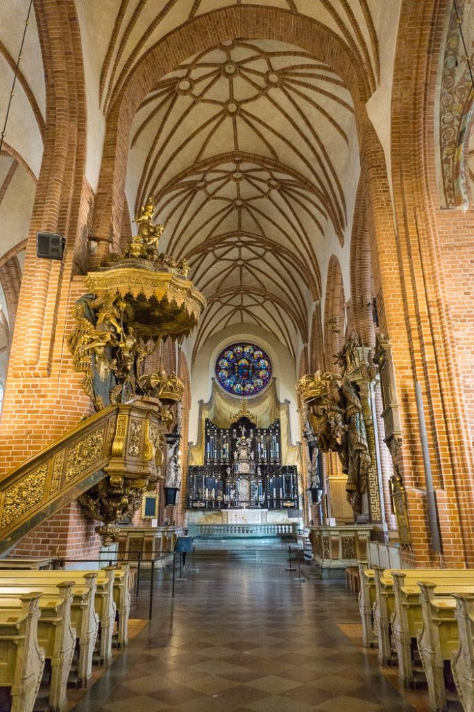 The interior of Riddarholmskyrkan church in Stockholm, Sweden. 30 photos of Stockholm that will inspire you to visit.