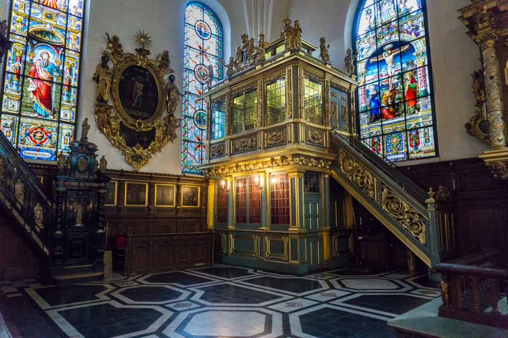 The interior of Tyska Kyrkan (German Church) in Stockholm, Sweden. 30 photos of Stockholm that will inspire you to visit.