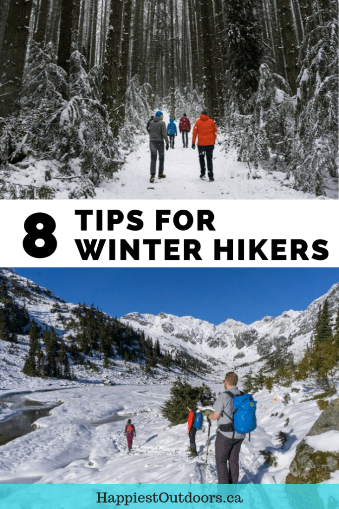 8 tips for winter hikers. How to stay warm while winter hiking. Winter hiking tips. How to hike in the winter. #hiking #winter #hikingtips #winterhiking