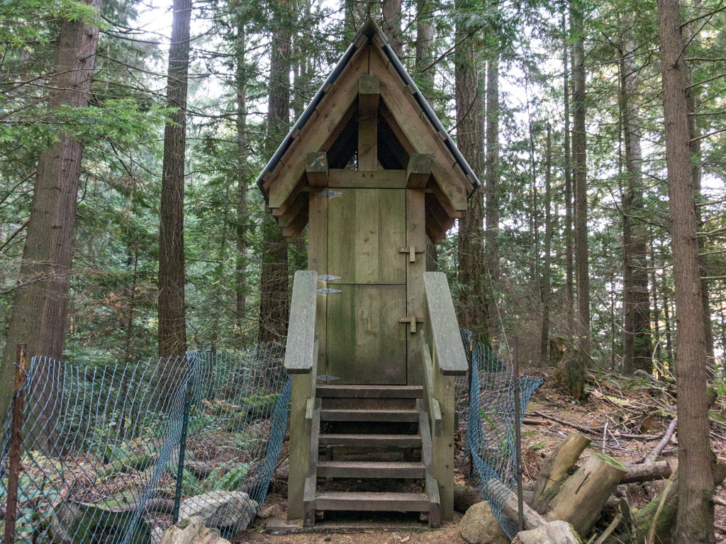 The outhouse at Whyte Lake in West Vancouver