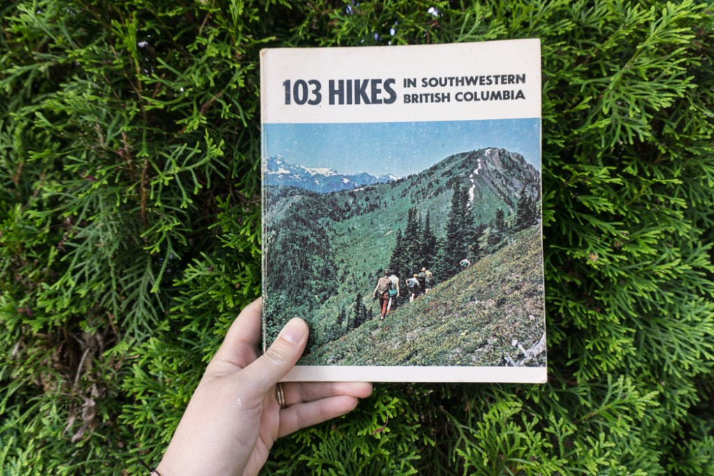 The first edition of 103 Hikes. Learn about the history of hiking guide books in BC from the 1st edition of 103 hikes in 1973 to the new 105 Hikes in and Around Southwestern British Columbia, published in 2018.