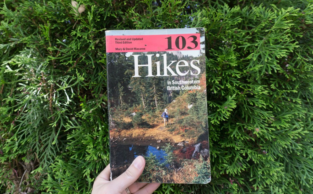 The third edition of 103 Hikes. Learn about the history of hiking guide books in BC from the 1st edition of 103 hikes in 1973 to the new 105 Hikes in and Around Southwestern British Columbia, published in 2018.