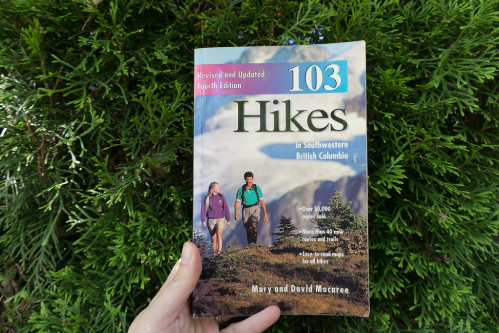 The fourth edition of 103 Hikes. Learn about the history of hiking guide books in BC from the 1st edition of 103 hikes in 1973 to the new 105 Hikes in and Around Southwestern British Columbia, published in 2018.