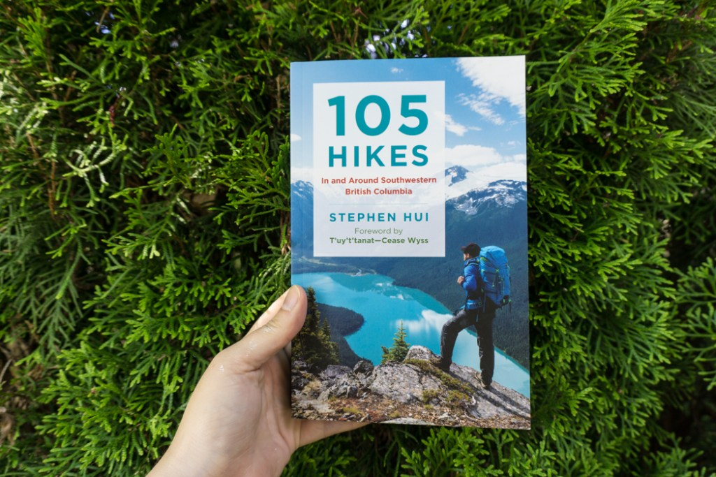 A brand new copy of 105 Hikes. Learn about the history of hiking guide books in BC from the 1st edition of 103 hikes in 1973 to the new 105 Hikes in and Around Southwestern British Columbia, published in 2018.