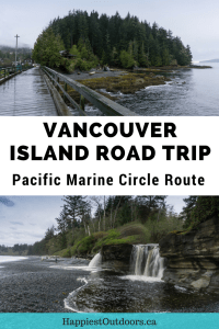 Your guide to the Pacific Marine Circle route road trip on Vancouver Island in Canada. Visit big trees, wild beaches, tiny towns and tons of hiking. #PacificMarineCircleRoute #VancouverIsland #British Columbia #Canada