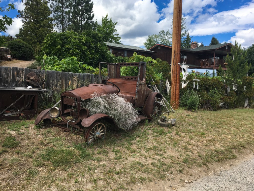 Bush Art Gardens in Summerland, BC. Explore Summerland's wineries by bike with this self-guided tour.