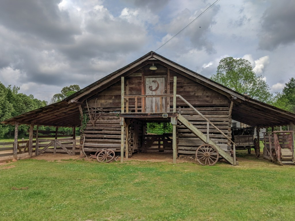 One of the historic buildings at French Camp on the Natchez Trace. Learn how to cycle tour the Natchez Trace Parkway in this detailed guide.