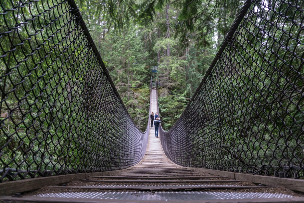 Lynn Canyon suspension bridge near Vancouver, BC