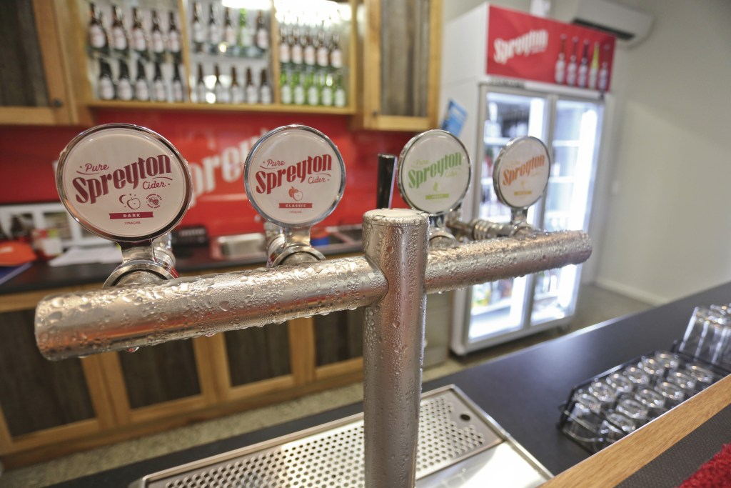 Taps at Spreyton Cider in Devonport, Tasmania. Just one of over 40 things to do in Devonport and Tasmania's North West.