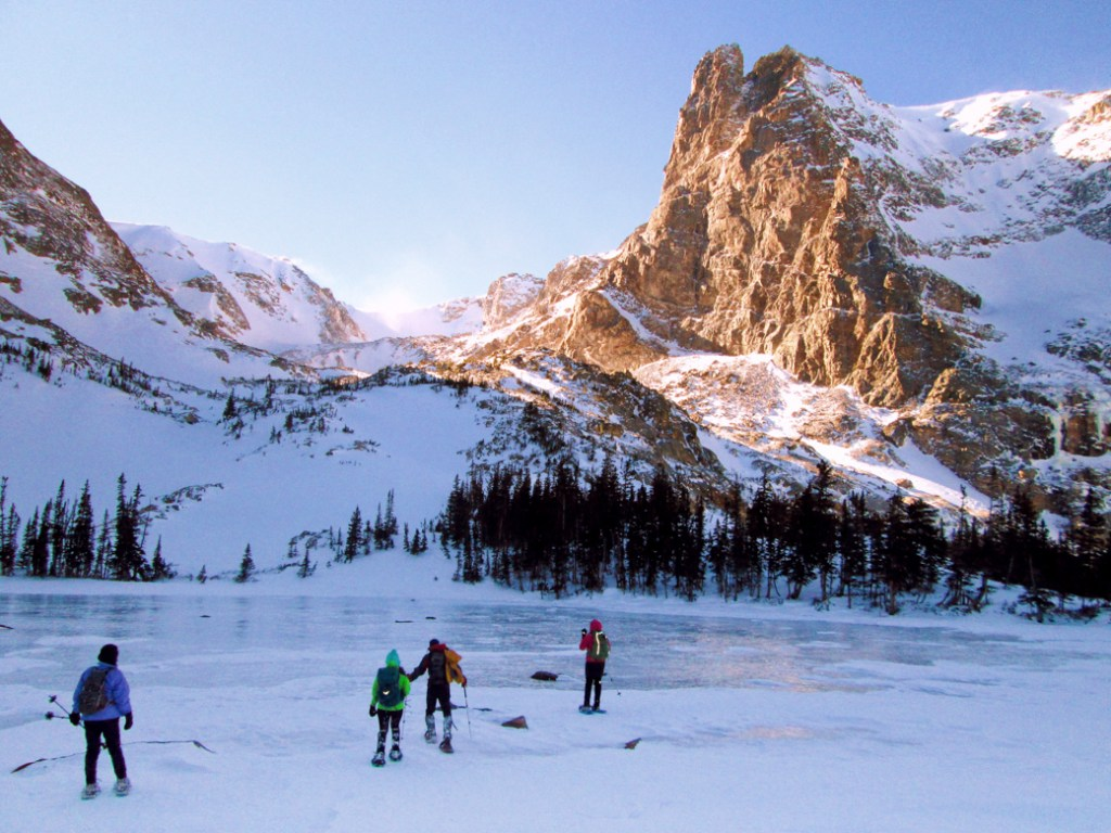 Lake Helene in Rocky Mountain National Park. One of the best lake hikes in Colorado.