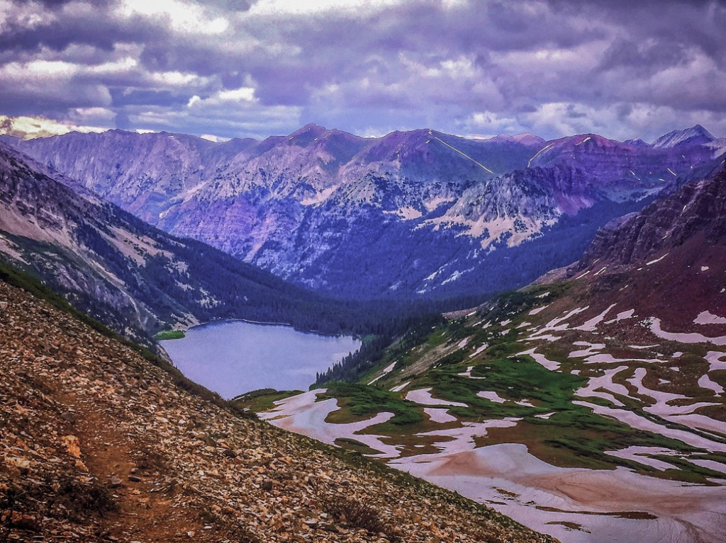 Snowmass Lake near Aspen. One of the best lake hikes in Colorado.