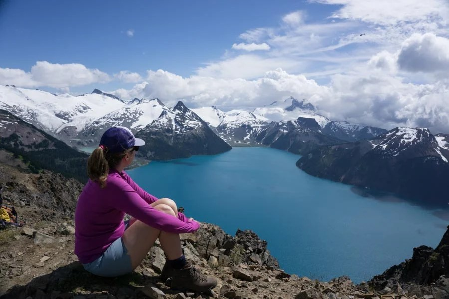 Garibaldi Lake from Panorama Ridge near Squamish